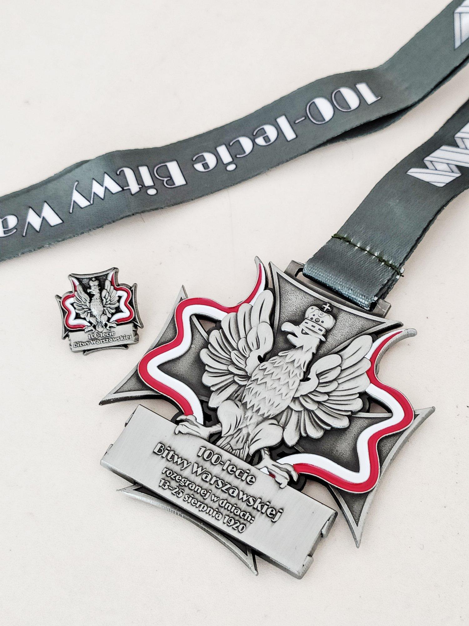 medal biegu wirtualnego 100km na 100lecie bitwy warszawskiej