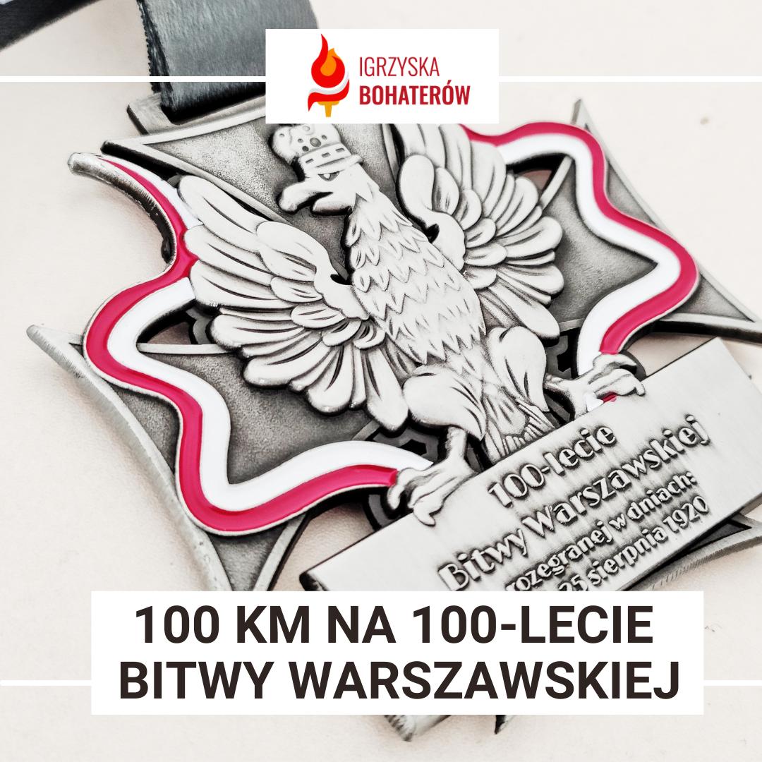 Medal za bieg wirtualny historyczny - 100 km na 100-lecie Bitwy Warszawskiej