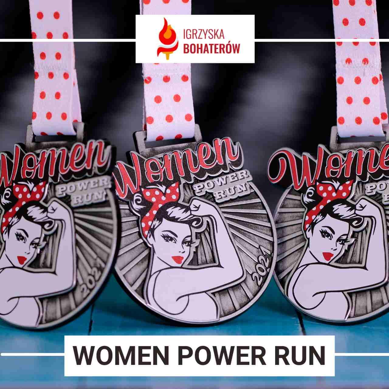medale na bieg dla kobiet igrzyska bohaterów