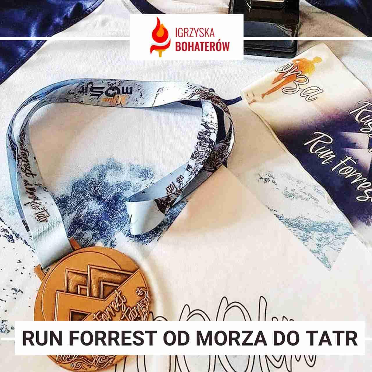 gadżety na wyzwanie biegowe run forrest od morza do tatr